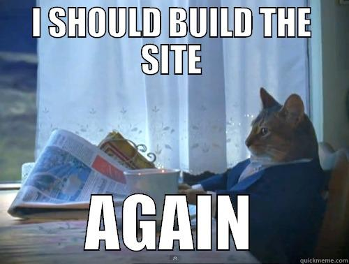 I SHOULD BUILD THE SITE AGAIN The One Percent Cat