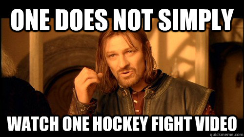 One does not simply watch one hockey fight video - One does not simply watch one hockey fight video  onedoesnt