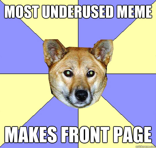 Most Underused Meme  Makes Front page   DAE Dingo