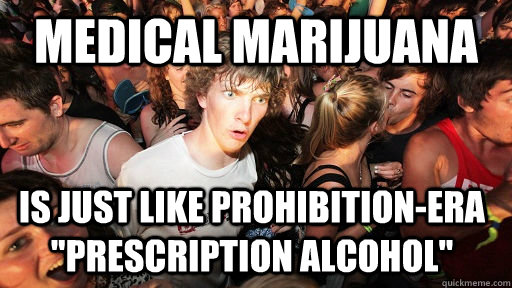 Medical Marijuana Is just like prohibition-era