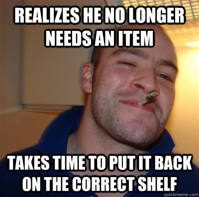 Realizes he no longer needs an item takes time to put it back on the correct shelf - Realizes he no longer needs an item takes time to put it back on the correct shelf  GGG view on Idra