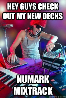 hey guys check out my new decks numark mixtrack