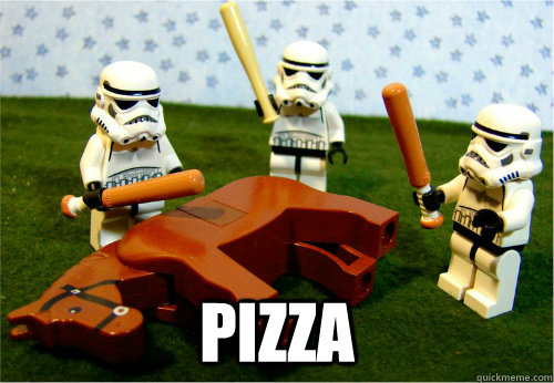pizza -  pizza  Beating dead horse