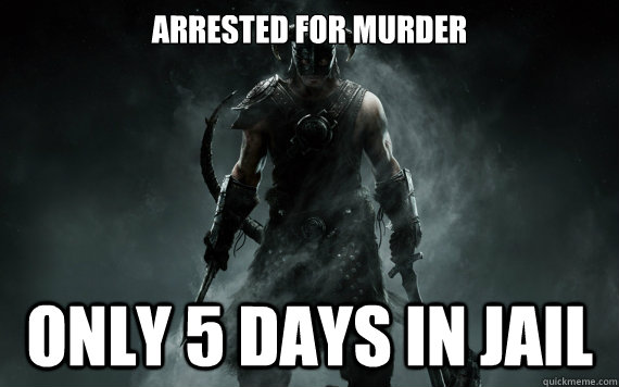 Arrested for murder only 5 days in jail