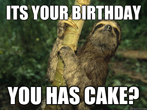 Happy birthday sloth meme - photo#12