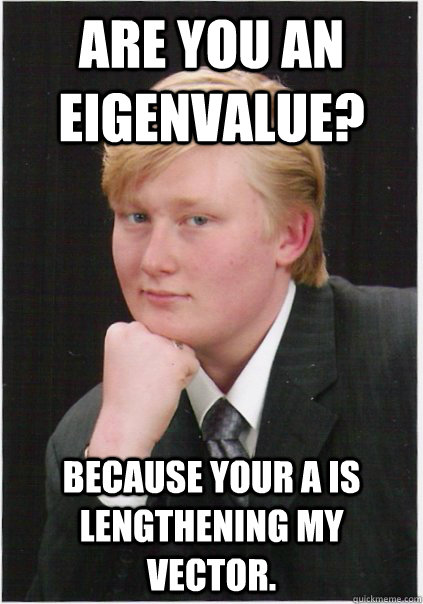 Are you an eigenvalue?  because your A is lengthening my vector.