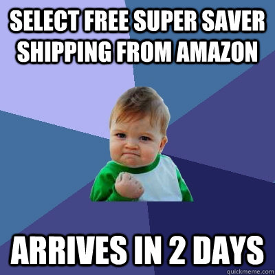 Select free super saver shipping from Amazon Arrives in 2 days - Select free super saver shipping from Amazon Arrives in 2 days  Success Kid