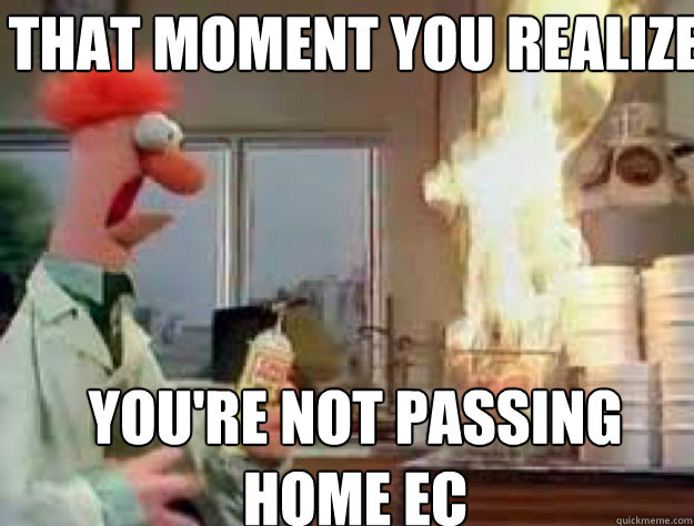 That moment you realize you're not passing home ec - That moment you realize you're not passing home ec  Misc