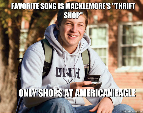 Favorite song is Macklemore's