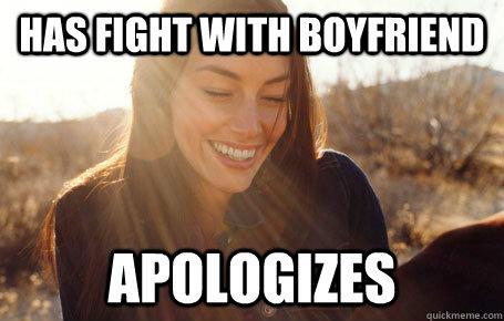 2e29576965a8f66395a6ffe43deb70b1949ba3d642f901991ec01ef3b10c7e47 has fight with boyfriend apologizes awesome girlfriend alice,Girlfriend Boyfriend Memes