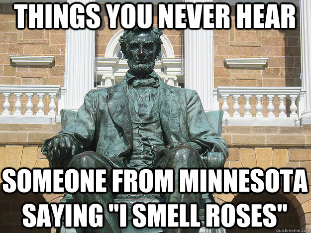 things you never hear someone from minnesota saying
