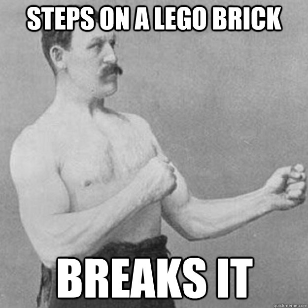 Steps on a lego brick breaks it - Steps on a lego brick breaks it  Misc