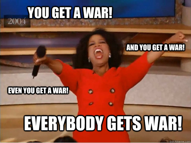 You get a war! everybody gets war! and you get a war! even you get a war! - You get a war! everybody gets war! and you get a war! even you get a war!  oprah you get a car