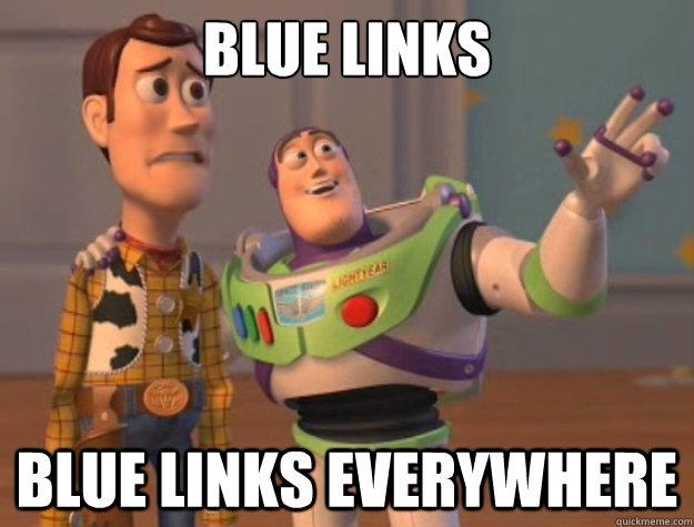 Blue links Blue links everywhere - Blue links Blue links everywhere  Buzz Lightyear