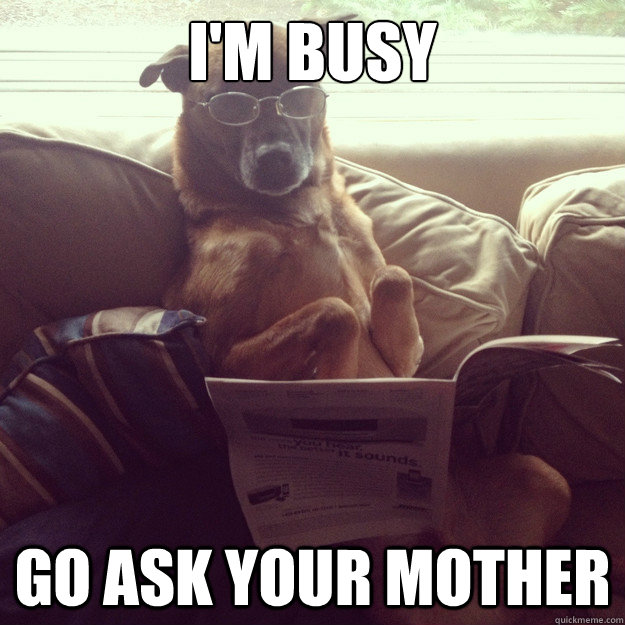 i'm busy Go ask your mother - i'm busy Go ask your mother  Misc
