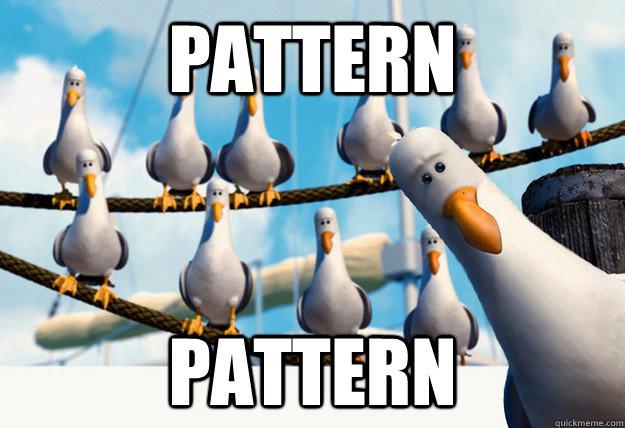 Pattern Pattern  Finding Nemo Mine Seagulls