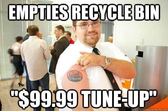 empties recycle bin