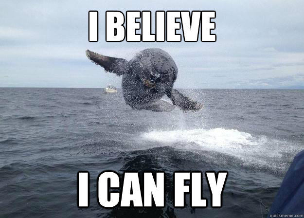 I BELIEVE i can fly  flying whale