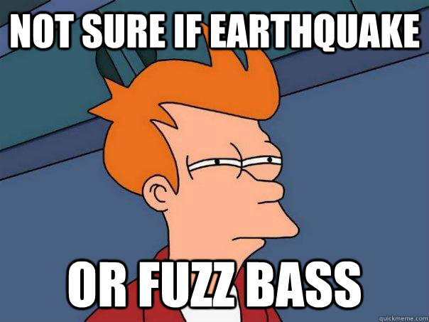 not sure if earthquake  Or fuzz bass - not sure if earthquake  Or fuzz bass  Futurama Fry