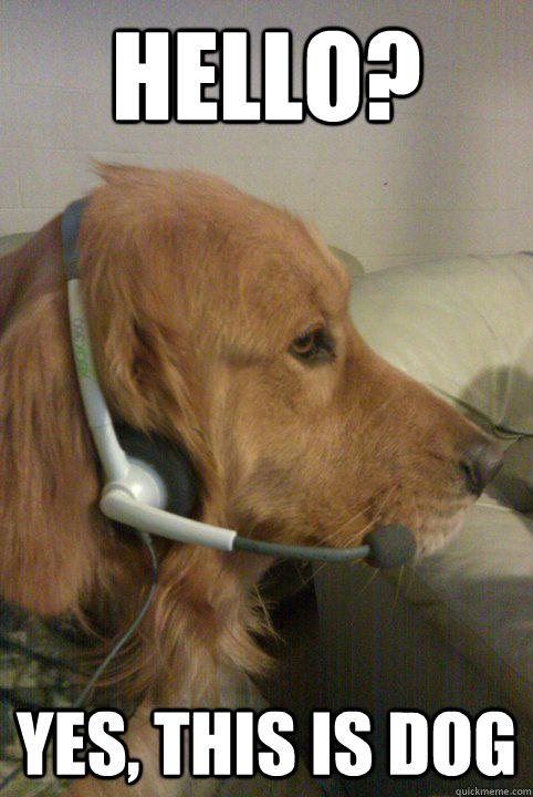 hello? yes, this is dog - hello? yes, this is dog  Xbox Live Dog