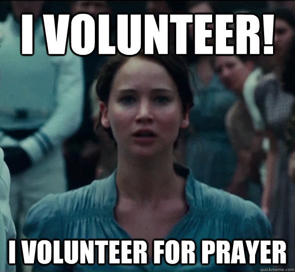 I volunteer I voluntee...