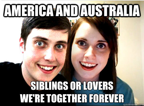 America and Australia siblings or lovers we're together forever