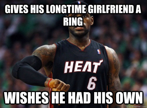 gives his longtime girlfriend a ring wishes he had his own
