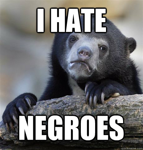 I HATE NEGROES - I HATE NEGROES  Confession Bear