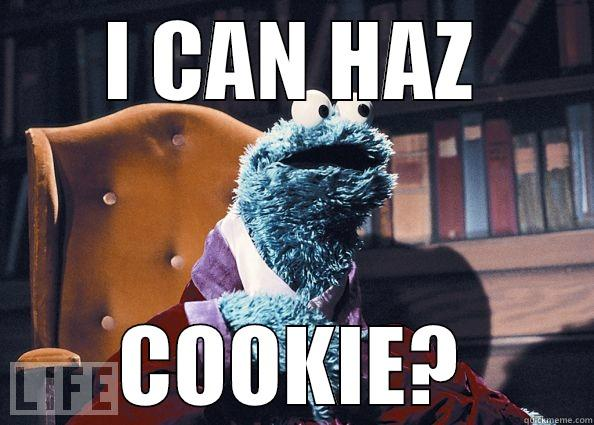 I CAN HAZ COOKIE? Cookie Monster
