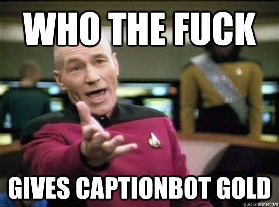 Who the fuck gives Captionbot gold - Who the fuck gives Captionbot gold  Annoyed Picard HD