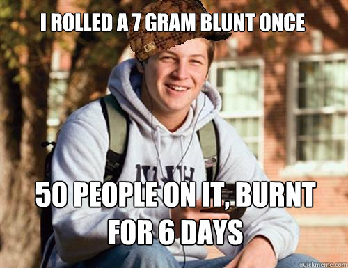 I Rolled A 7 Gram Blunt Once 50 People On It Burnt For 6 Days