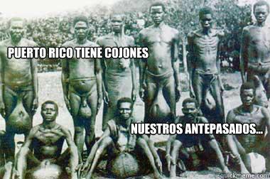 Puerto Rico Tiene cojones Nuestros antepasados... - Puerto Rico Tiene cojones Nuestros antepasados...  PUERTO RICO TIENE COJONES