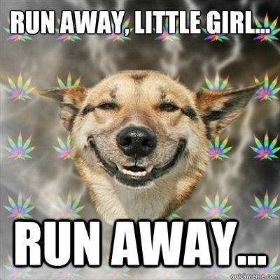 30a9b30f0b25c7501a0e648406a591bc8e77585f98ecf3426b3e4eb1ad51d429 stoner dog memes quickmeme,Dog Running Meme