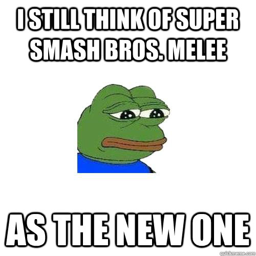 I still think of super smash bros. melee as the new one