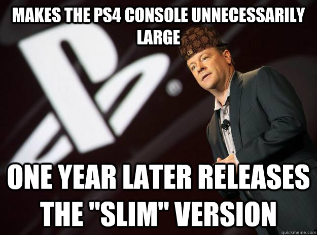 makes the ps4 console unnecessarily large one year later releases the