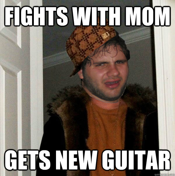 Fights with mom gets new guitar