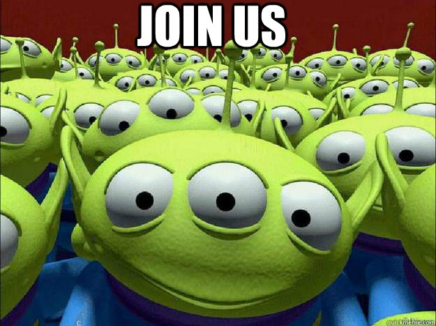 JOIN US  Oddly Parental Toy Story Aliens