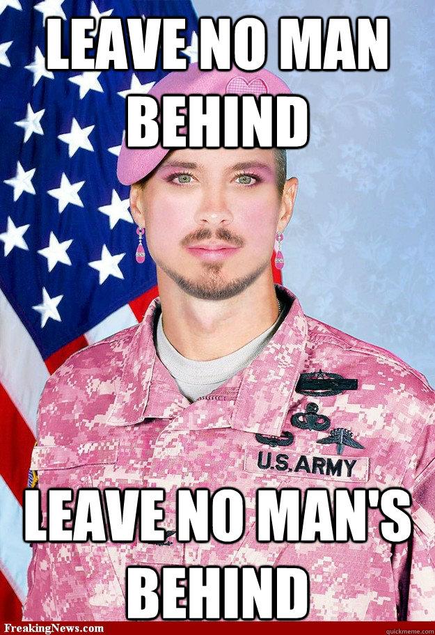 Leave no man behind Leave no man's behind