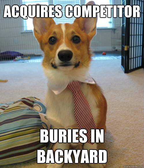 Acquires Competitor Buries in Backyard - Acquires Competitor Buries in Backyard  Corporate Corgi