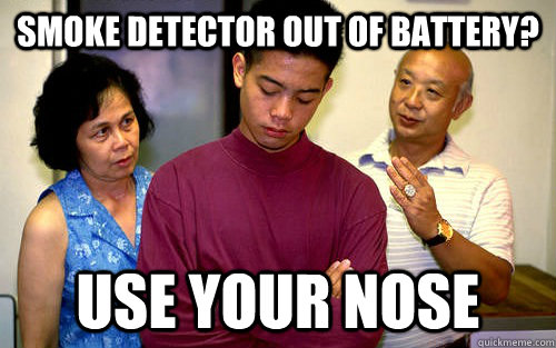 Smoke detector out of battery? Use your nose