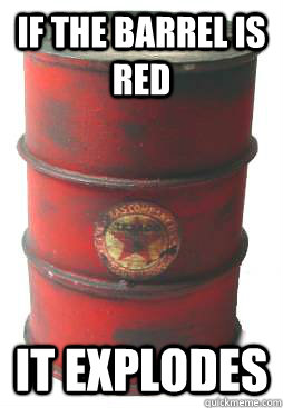 If the barrel is red it explodes - If the barrel is red it explodes  shooting game red barrel
