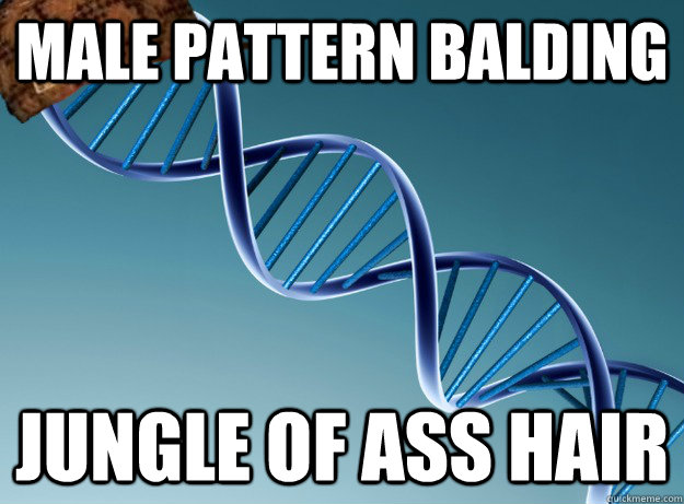 male pattern balding Jungle of ass hair - male pattern balding Jungle of ass hair  Scumbag Genetics