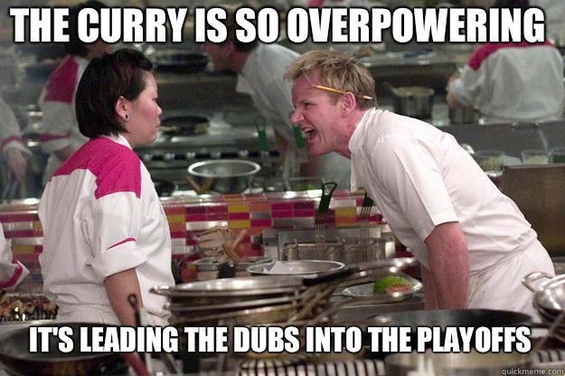 IT'S LEADING THE DUBS INTO THE PLAYOFFS THE CURRY IS SO OVERPOWERING - IT'S LEADING THE DUBS INTO THE PLAYOFFS THE CURRY IS SO OVERPOWERING  Misc