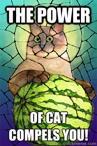 The Power of cat compels you! - The Power of cat compels you!  Cat Melon Church