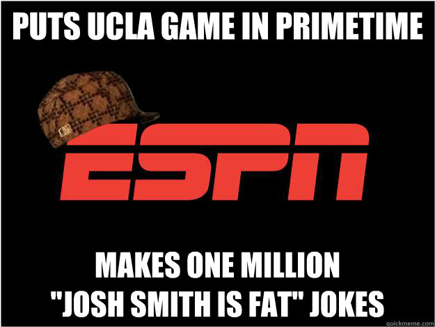 Puts UCLA game in primetime Makes one million