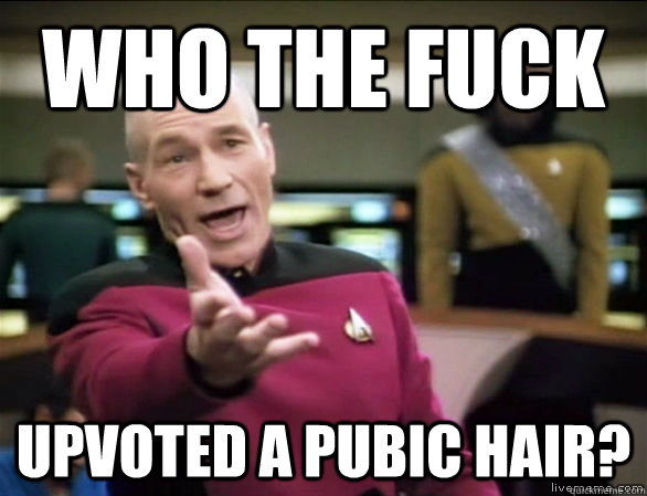Who the fuck Upvoted a Pubic hair? - Who the fuck Upvoted a Pubic hair?  Annoyed Picard HD