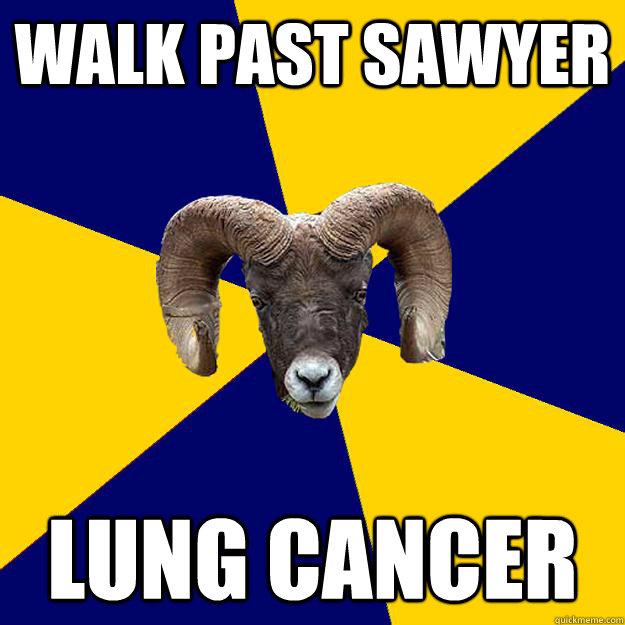 walk past sawyer lung cancer  Suffolk Kid Ram
