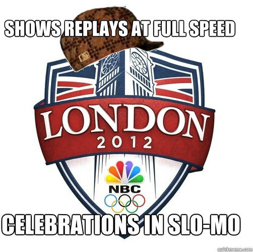 Shows replays at full speed celebrations in slo-mo