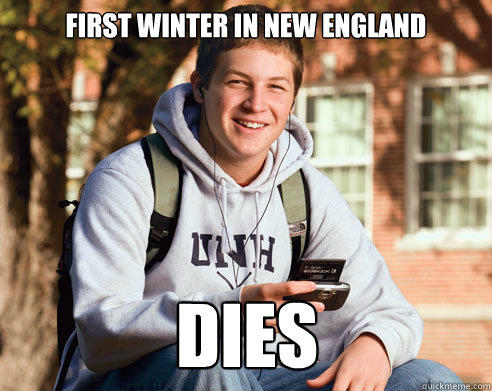 FIRST WINTER IN NEW ENGLAND DIES - FIRST WINTER IN NEW ENGLAND DIES  College Freshman