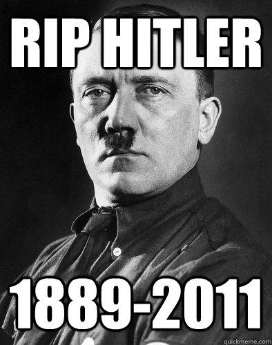 RE: clean shaven Adolf Hitler
